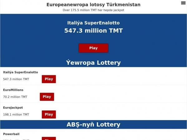 turkmenistan.eurooppalotto.com